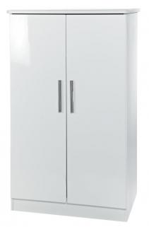 Knightsbridge White Wardrobe - 2ft 6in Plain Midi