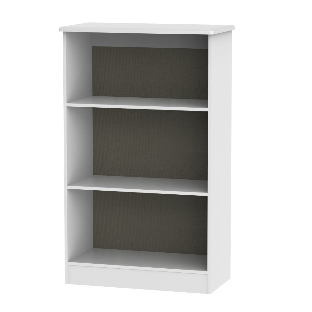 Knightsbridge White Bookcase - 2 Shelves