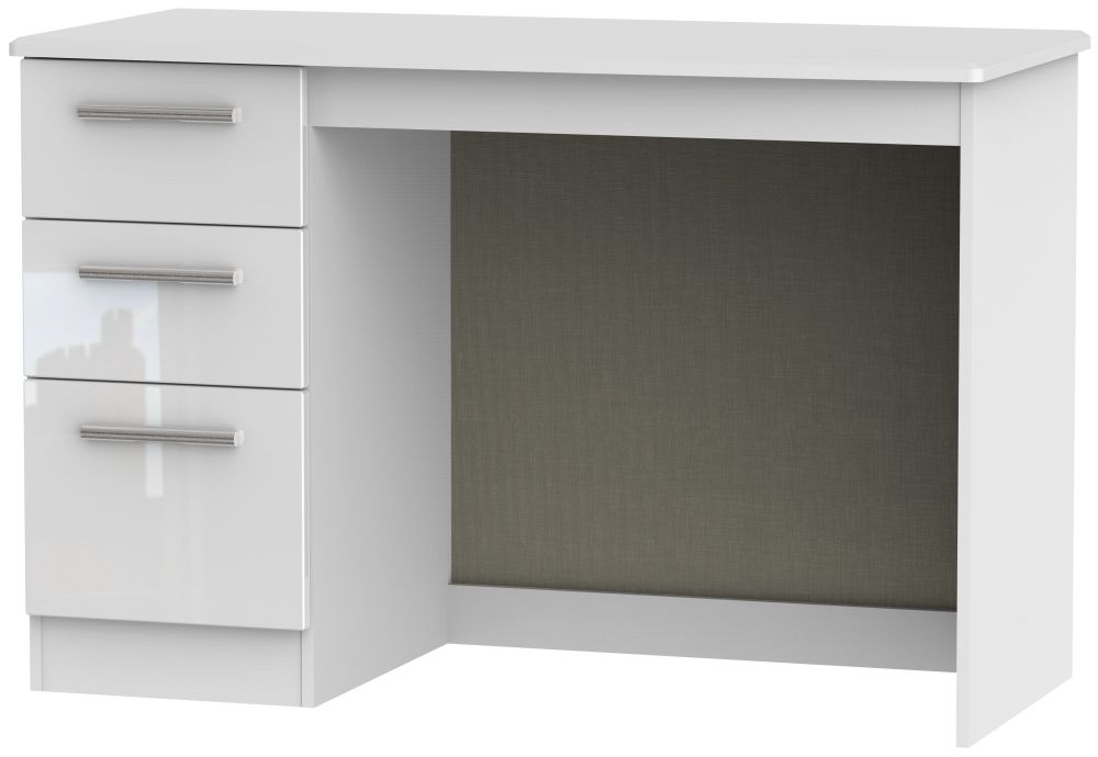 Knightsbridge High Gloss White Desk