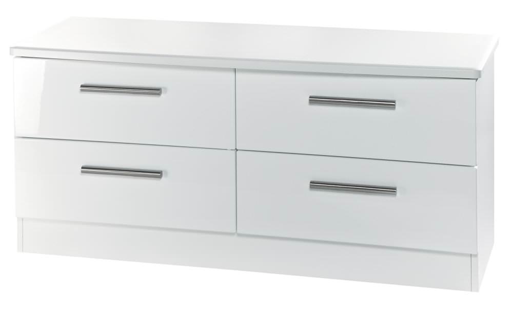 Knightsbridge White Bed Box - 4 Drawer