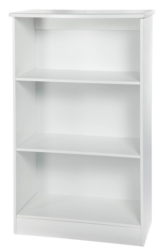 knightsbridge white bookcase 2 shelves welcome furniture. Black Bedroom Furniture Sets. Home Design Ideas