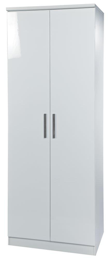 Knightsbridge White Wardrobe - Tall 2ft 6in Plain
