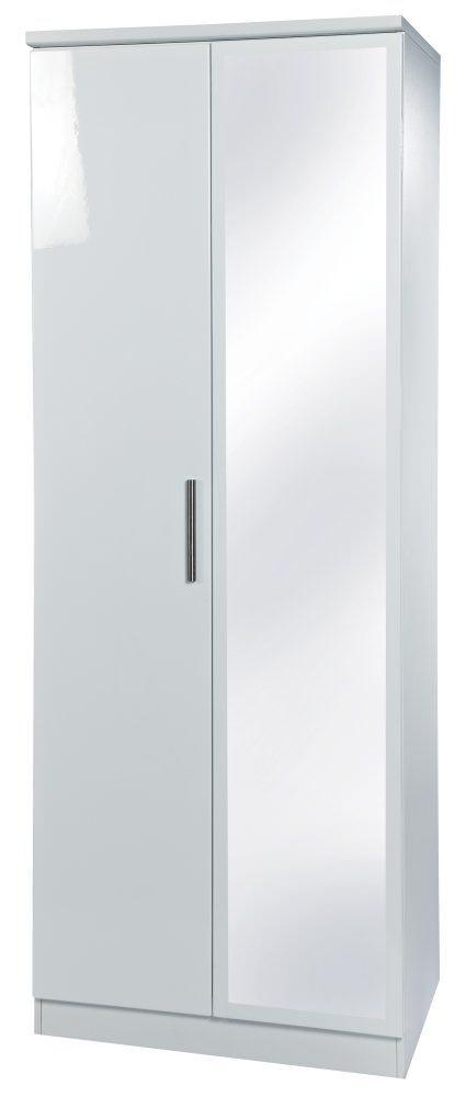 Knightsbridge White Wardrobe - Tall 2ft 6in with Mirror