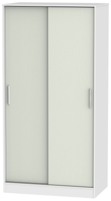 Knightsbridge 2 Door Sliding Wardrobe - Kaschmir Ash and White