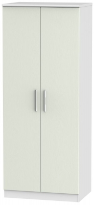 Knightsbridge 2 Door Wardrobe - Kaschmir Ash and White