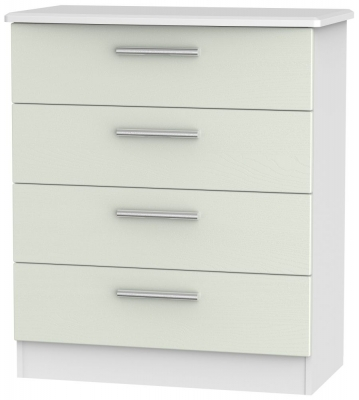 Knightsbridge 4 Drawer Chest - Kaschmir Ash and White