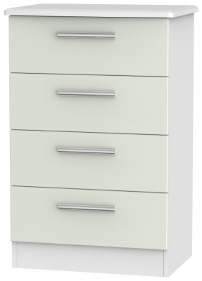 Knightsbridge 4 Drawer Midi Chest - Kaschmir Ash and White