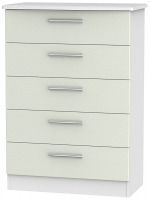 Knightsbridge 5 Drawer Chest - Kaschmir Ash and White