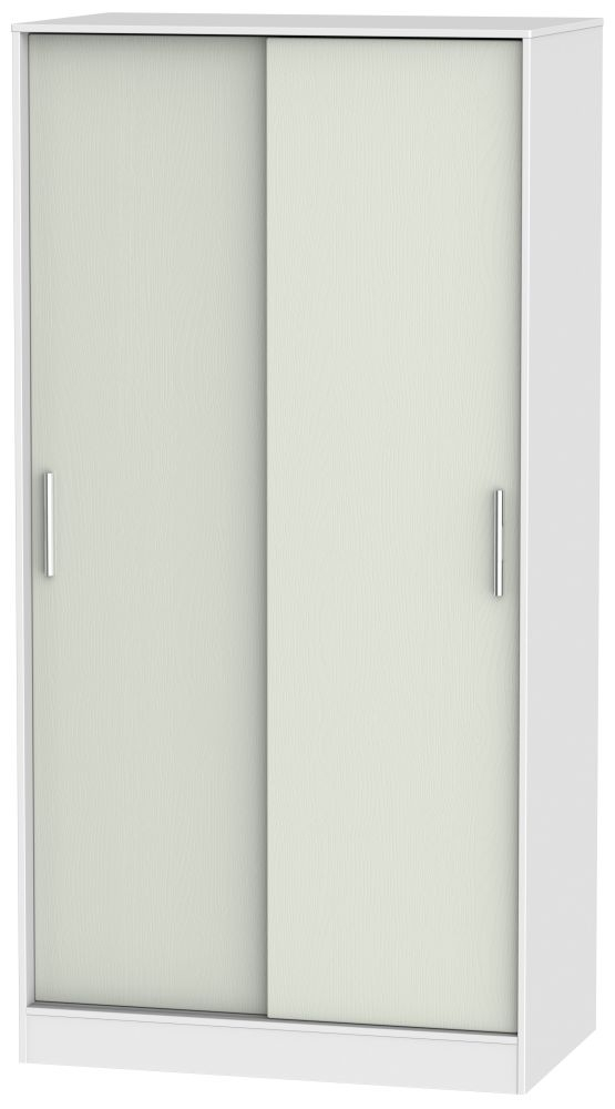Knightsbridge 2 Door Sliding Wardrobe - Kaschmir Ash and White