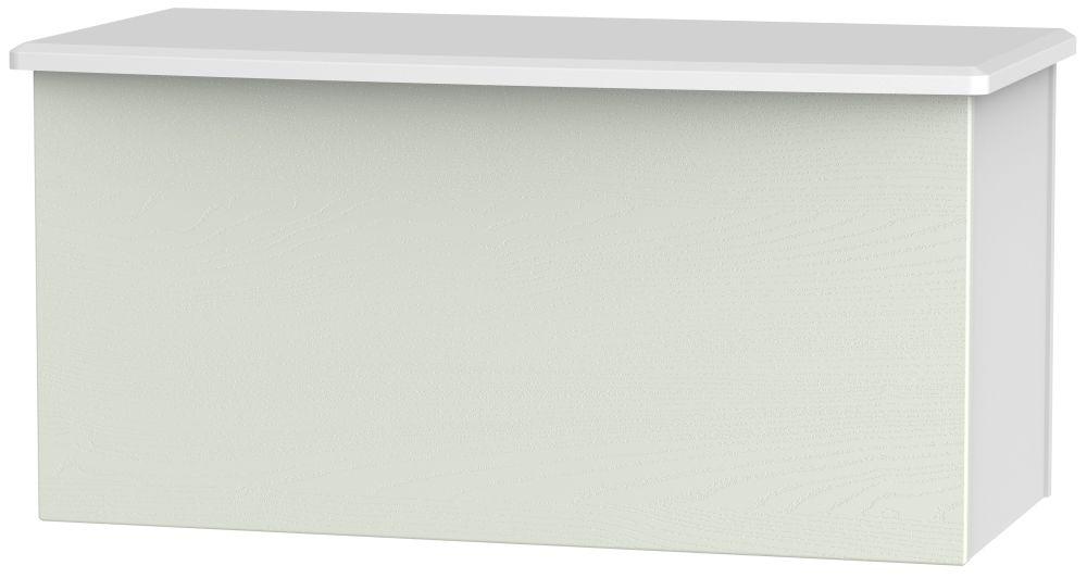 Knightsbridge Blanket Box - Kaschmir Ash and White