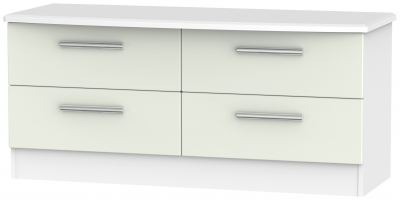 Knightsbridge Bed Box - Kaschmir Matt and White