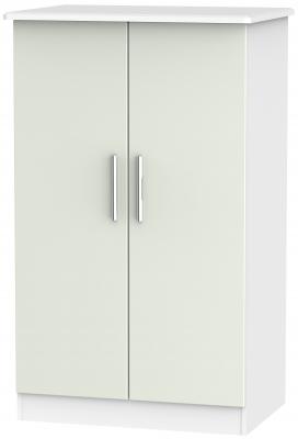 Knightsbridge 2 Door Midi Wardrobe - Kaschmir Matt and White