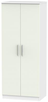 Knightsbridge 2 Door Wardrobe - Kaschmir Matt and White
