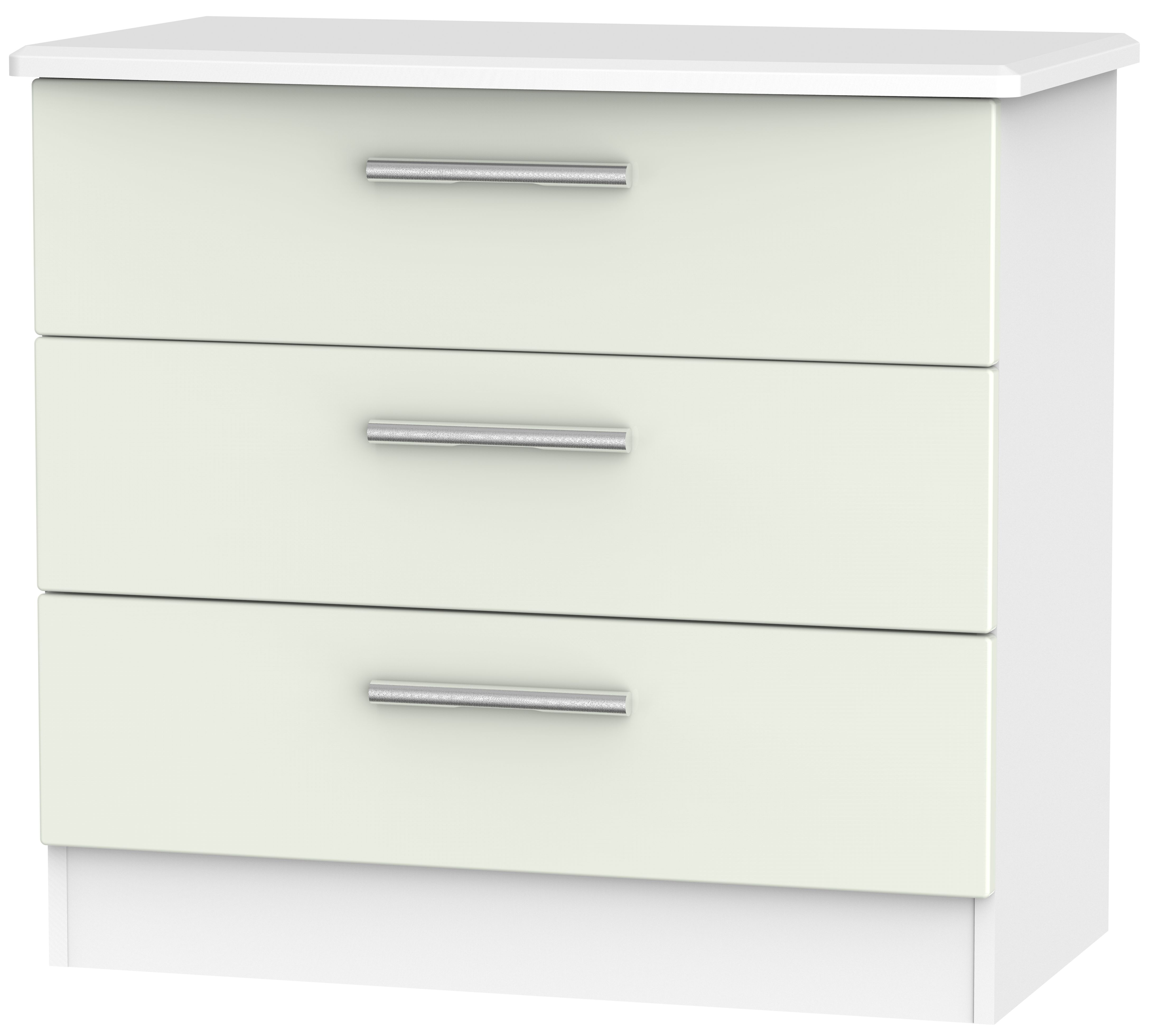 Knightsbridge 3 Drawer Chest - Kaschmir Matt and White