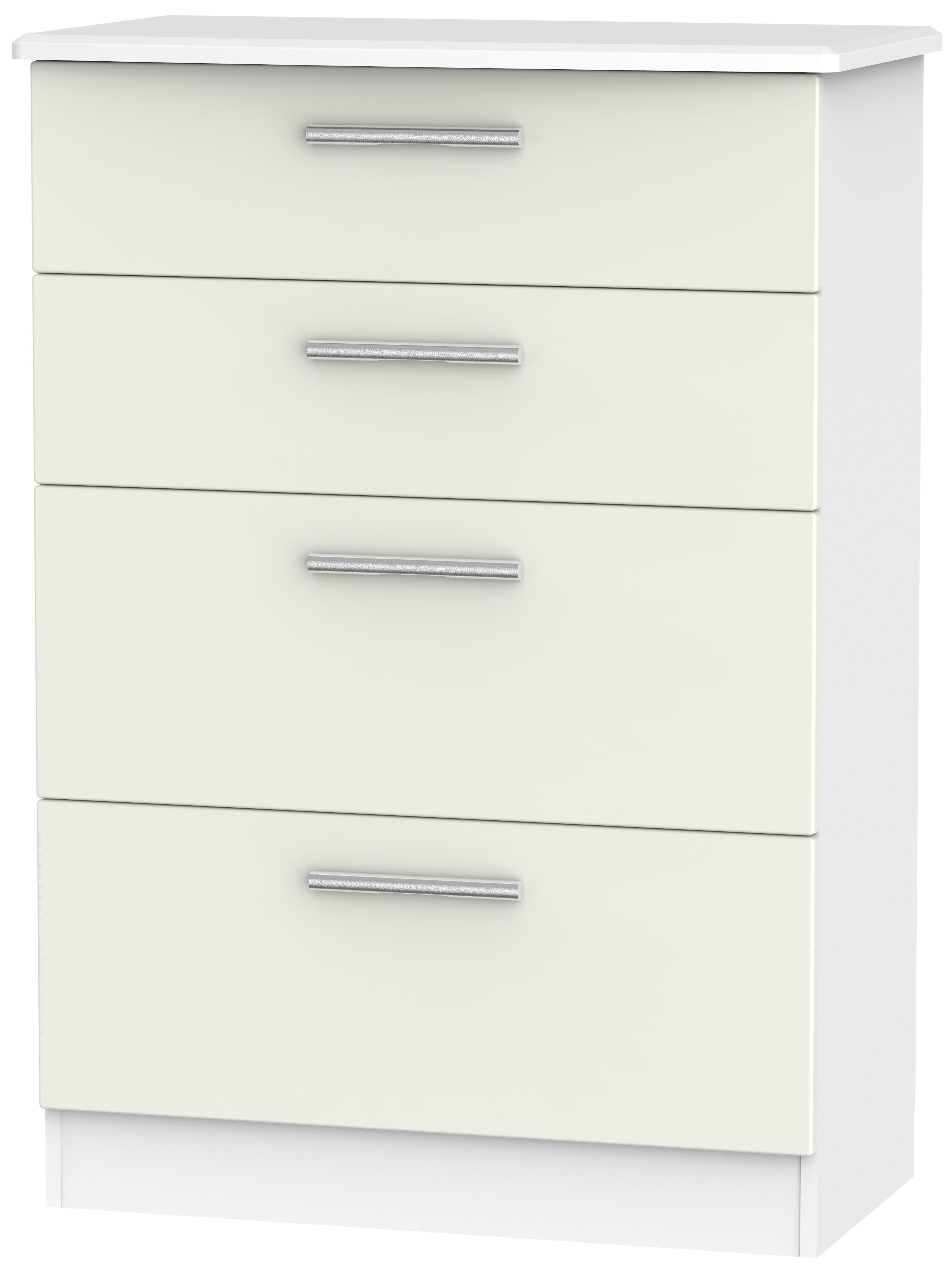 Knightsbridge 4 Drawer Deep Chest - Kaschmir Matt and White