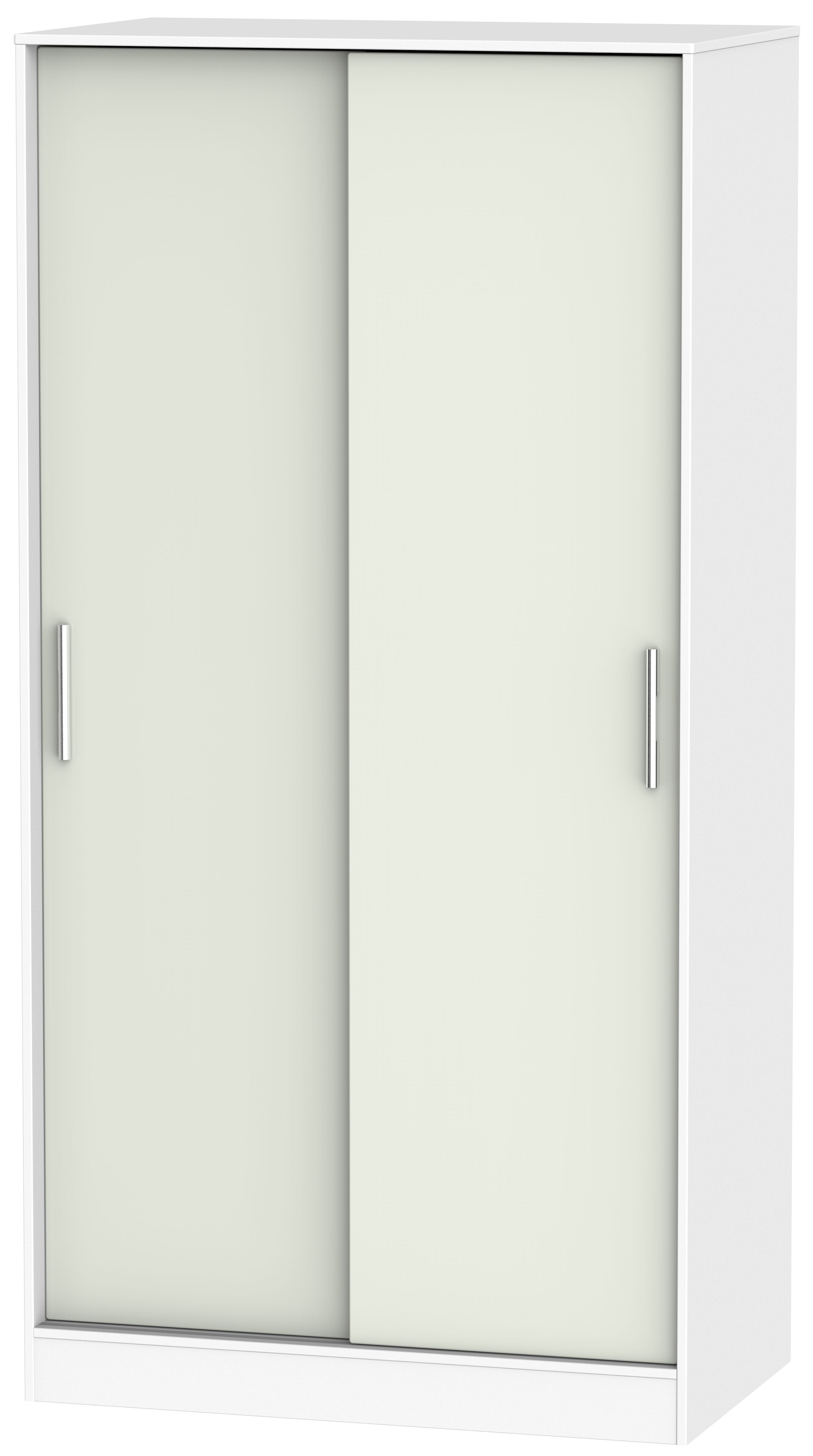 Knightsbridge Kaschmir Matt and White Sliding Wardrobe - Wide