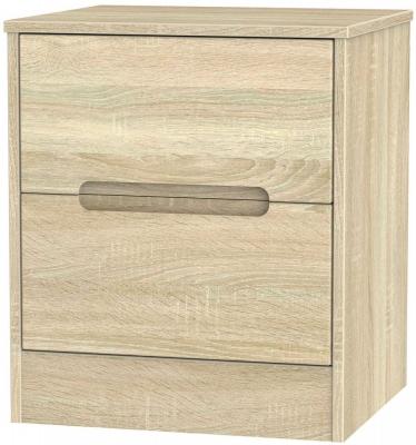 Monaco Bardolino 2 Drawer Bedside Cabinet