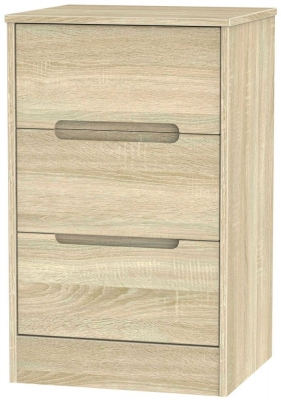 Monaco Bardolino Bedside Cabinet - 3 Drawer Locker