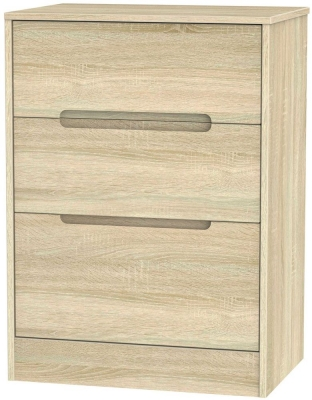 Monaco Bardolino Chest of Drawer - 3 Drawer Deep Midi