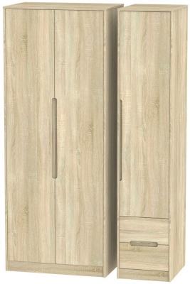 Monaco Bardolino 3 Door 2 Right Drawer Tall Wardrobe