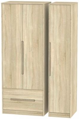 Monaco Bardolino 3 Door 2 Left Drawer Tall Wardrobe
