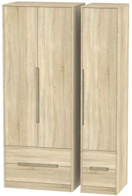 Monaco Bardolino 3 Door 4 Drawer Tall Wardrobe