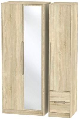 Monaco Bardolino 3 Door 2 Right Drawer Tall Combi Wardrobe
