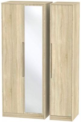 Monaco Bardolino Triple Wardrobe - Tall with Mirror