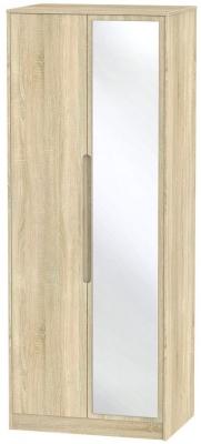 Monaco Bardolino 2 Door Tall Mirror Wardrobe