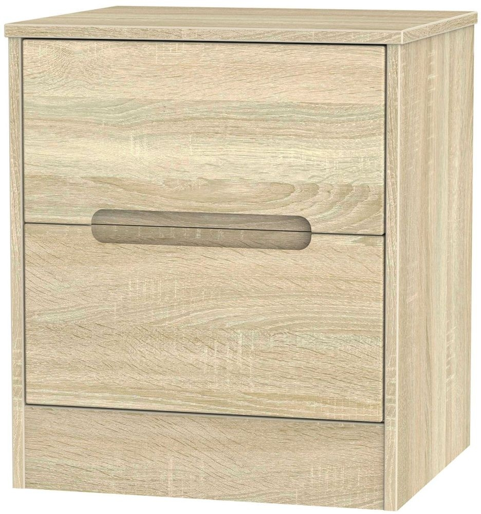 Monaco Bardolino Bedside Cabinet - 2 Drawer Locker