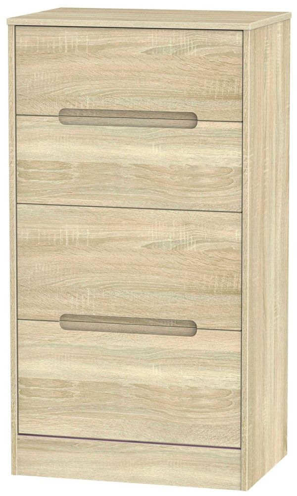 Monaco Bardolino Chest of Drawer - 4 Drawer Deep Midi