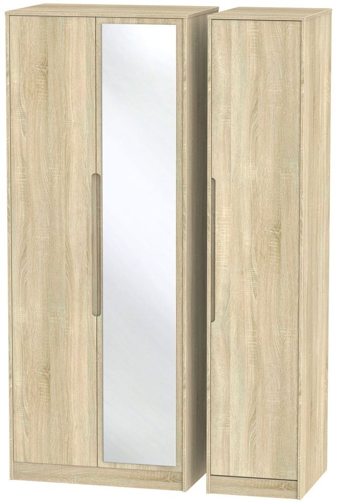 Monaco Bardolino Triple Wardrobe - Tall with Mirror