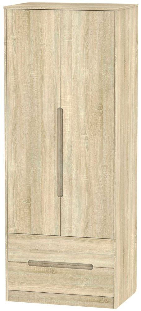 Monaco Bardolino 2 Door 2 Drawer Tall Double Wardrobe