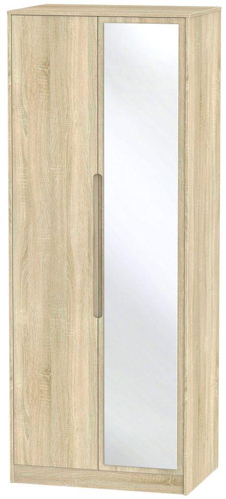 Monaco Bardolino 2 Door Tall Mirror Double Wardrobe