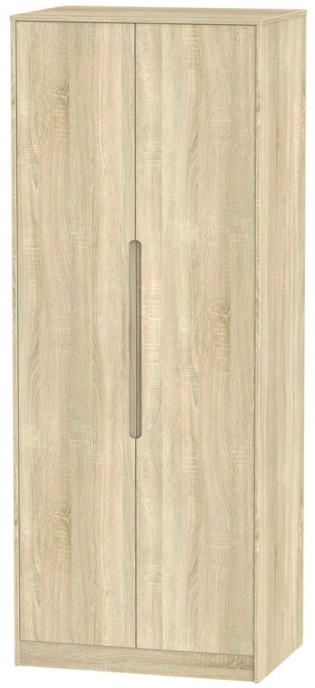 Monaco Bardolino 2 Door Tall Double Hanging Wardrobe