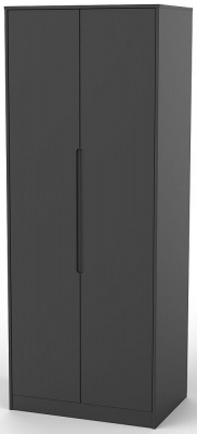 Monaco Black 2 Door Tall Wardrobe