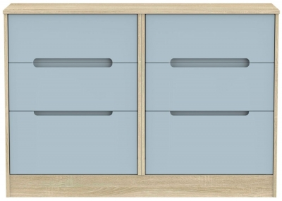 Monaco 6 Drawer Midi Chest - Denim and Bardolino