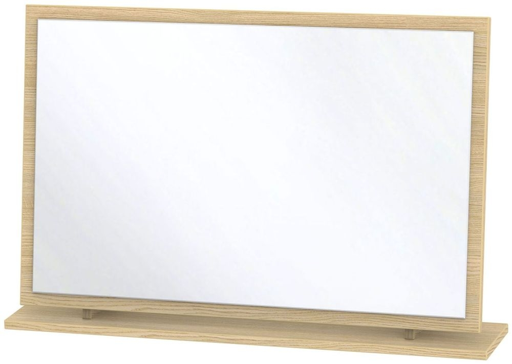 Monaco Light Oak Mirror - Large