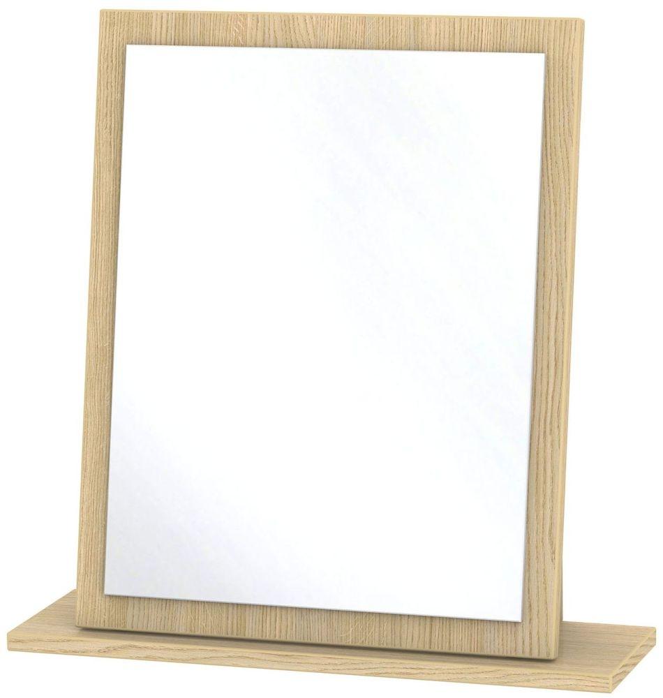 Monaco Light Oak Mirror - Small