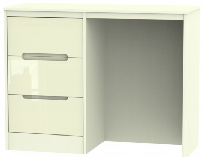 Monaco High Gloss Cream Dressing Table - Vanity Knee Hole