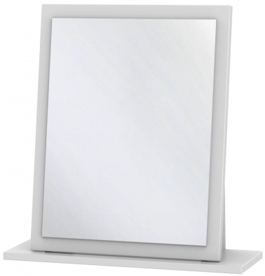 Monaco White Small Mirror