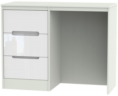 Monaco High Gloss White and Kaschmir Dressing Table - Vanity Knee Hole