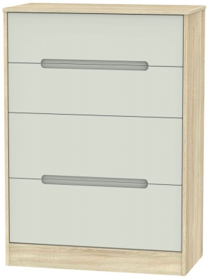 Monaco Kaschmir Matt and Bardolino Chest of Drawer - 4 Drawer Deep