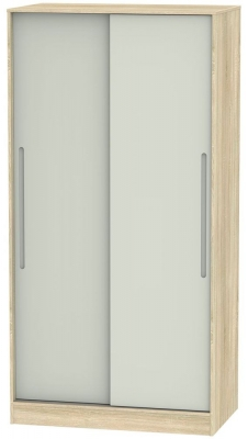 Monaco 2 Door Sliding Wardrobe - Kaschmir Matt and Bardolino