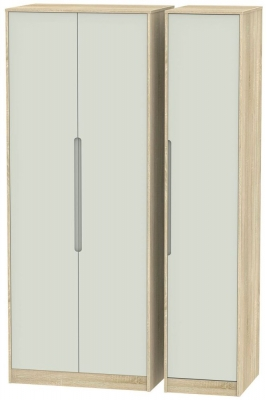 Monaco 3 Door Tall Wardrobe - Kaschmir Matt and Bardolino