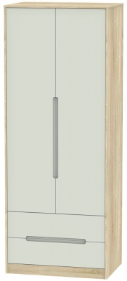 Monaco 2 Door 2 Drawer Tall Wardrobe - Kaschmir Matt and Bardolino