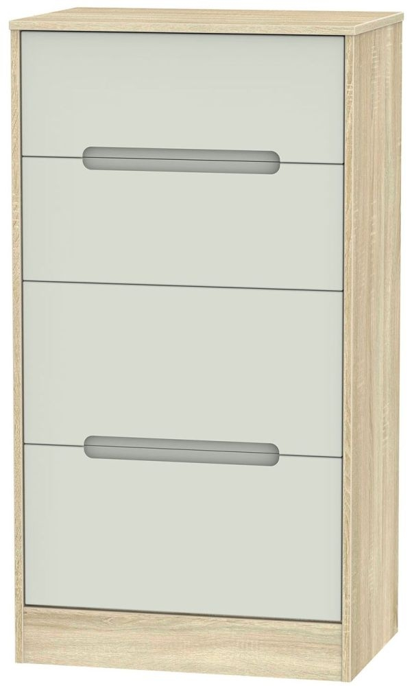 Monaco Kaschmir Matt and Bardolino Chest of Drawer - 4 Drawer Deep Midi