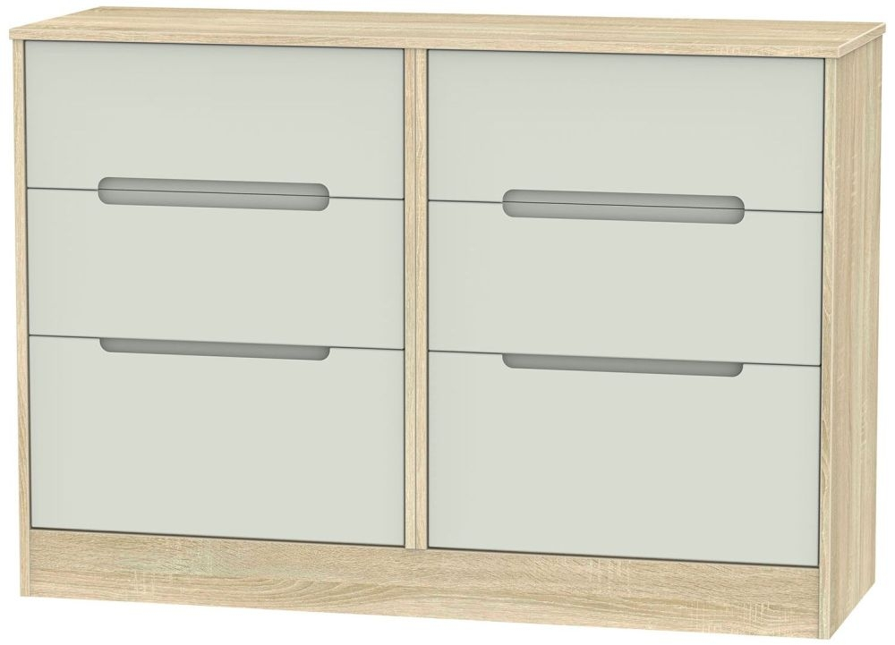 Monaco Kaschmir Matt and Bardolino Chest of Drawer - 6 Drawer Midi