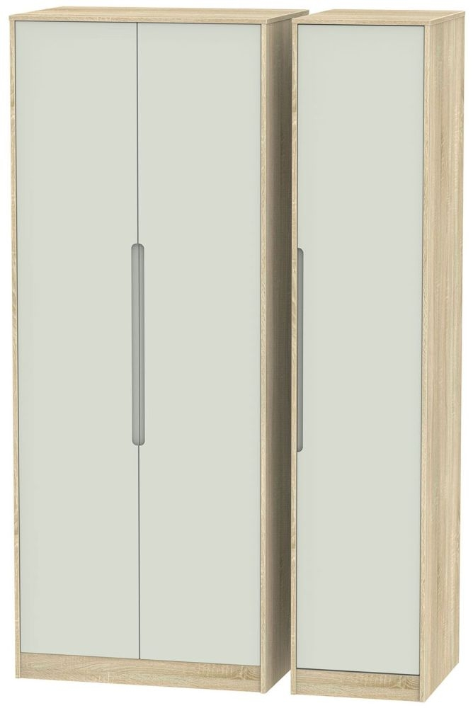 Monaco Kaschmir Matt and Bardolino 3 Door Tall Plain Triple Wardrobe