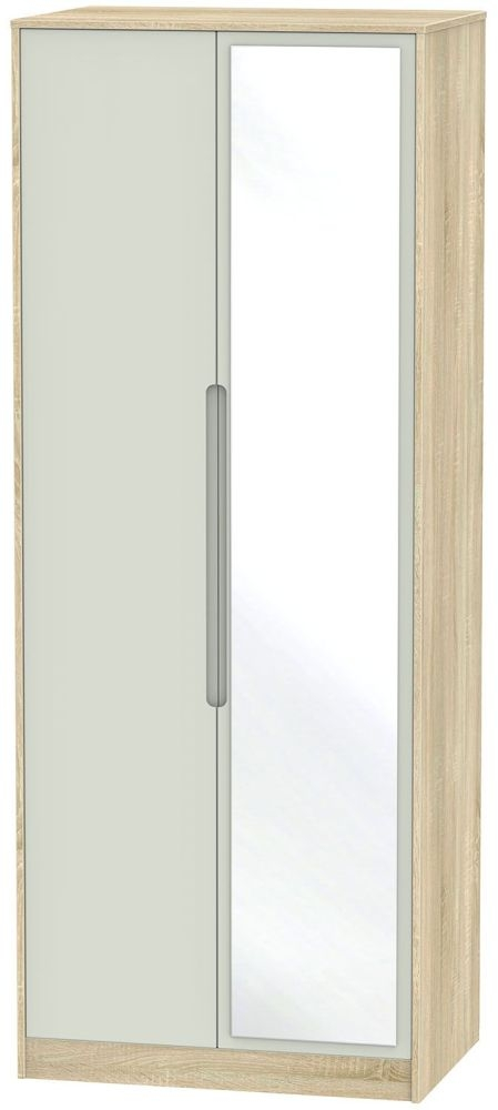 Monaco Kaschmir Matt and Bardolino Wardrobe - Tall 2ft 6in with Mirror